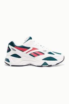 Reebok Aztrek 96 Suede, Leather And Mesh Sneakers - White