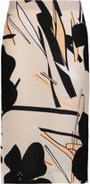 Marni Printed slub twill skirt
