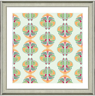 Vintage Print Gallery Exotic Opulent Tiles Vi Framed Graphic Art