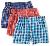 Class Club Boys 3-Pack Plaid Woven Boxers