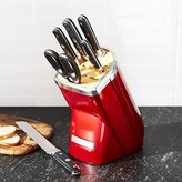 Crate & Barrel KitchenAid ® Professional Series 7-Piece Candy Apple Red Knife Block Set