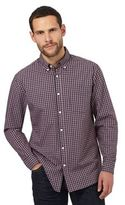 Maine New England Dark Orange Checked Regular Fit Shirt