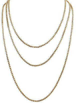 Stephanie Windsor Victorian 15K Yellow Gold Chain Necklace