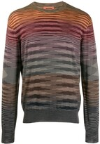 Missoni striped crew neck jumper