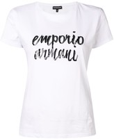 Emporio Armani sequin logo printed T-shirt
