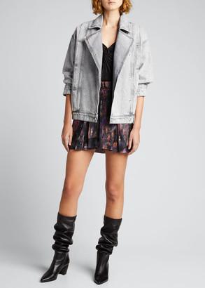 IRO Noumi Snap-Front Denim Jacket