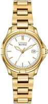 Citizen 28mm Silhouette Sport Bracelet Watch, Yellow Golden/White