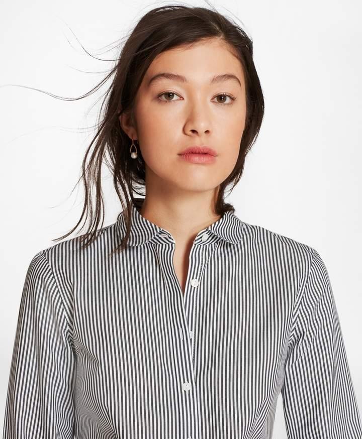 2f33cba54e Non-Iron Tailored-Fit Striped Cotton Golf-Collar Shirt