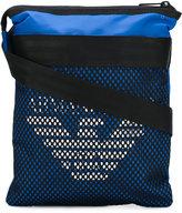 Armani Jeans logo print messenger bag