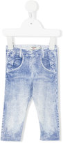 Junior Gaultier denim print leggings - kids - Cotton/Spandex/Elastane - 6 mth