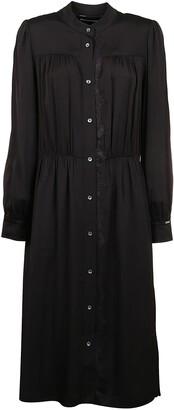 Calvin Klein Lace Trimmed Midi Shirt Dress