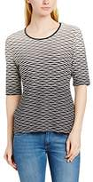 Gerry Weber Women's Waffle Round Collar Short Sleeve T-Shirt