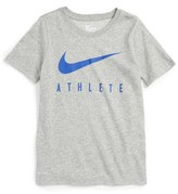 Nike Boy's 'Swoosh - Athlete' Dri-Fit Short Sleeve T-Shirt