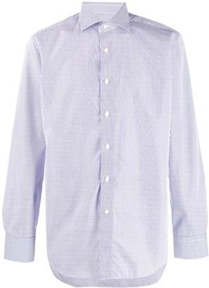 Canali striped formal shirt