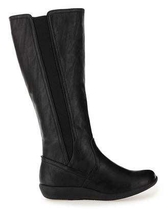 Cushion Walk Boots EEE Fit Curvy Calf