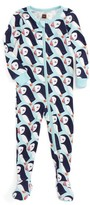 Tea Collection Infant Girl's Puffin Fitted One-Piece Pajamas