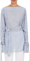 Calvin Klein Women's Keith Bis Striped Bateau-Neck Blouse