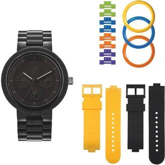 Lego 747576 Unisex Watch Analogue Quartz Black Plastic Strap Multicoloured Dial