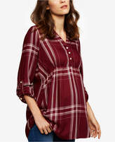 A Pea in the Pod Maternity Plaid Babydoll Tunic