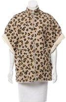 A.P.C. Short Sleeve Leopard Print Jacket w/ Tags