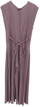 Pleats Please Purple Polyester Jumpsuits