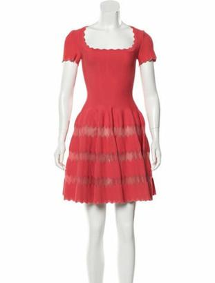 Alaia Square Neckline Mini Dress w/ Tags Orange