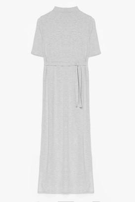 Nasty Gal Womens Tee BT Belted Midi Dress - Grey Marl