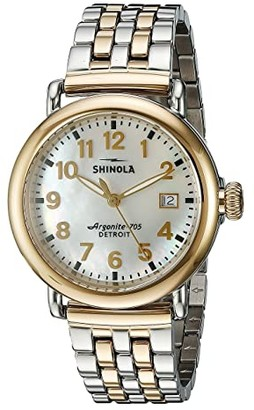 Shinola Detroit The Runwell 36mm - 10000237 (White/Stainless Steel/Gold) Watches