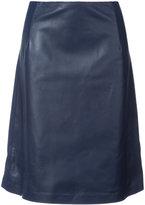 Carolina Herrera a-line skirt - women - Silk/Lamb Skin - 4