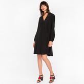 Paul Smith Women's Black Silk A-Line Dress