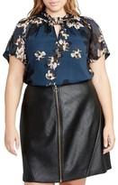 Rachel Roy Plus Size Women's Kimono Print Chiffon Top