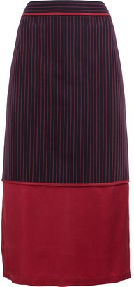 Sies Marjan Striped Panel Midi Skirt