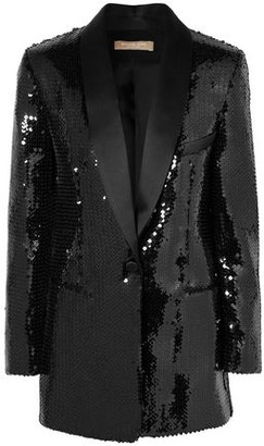 Michael Kors Satin-trimmed Sequined Crepe Tuxedo Jacket