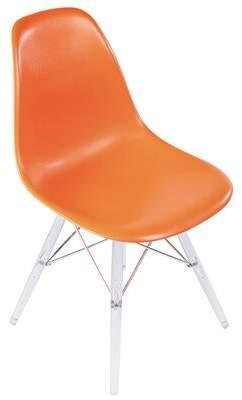 "Joseph Allen 19"" Side Chair Fabric: Orange"