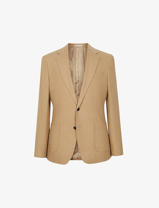 Reiss Piazetta brushed-wool single-breasted blazer