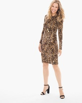 Chico's Leopard Side-Ruched Short Dress