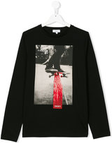 DKNY Teen skateboard logo print top
