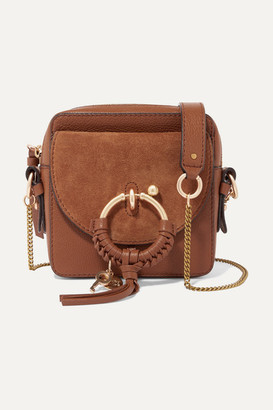 See by Chloe Square Textured-leather And Suede Shoulder Bag - Tan