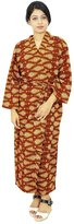 ibaexports Indian Women Cotton Robe Bridesmaid Wrap Crossover Robes Spa Wrap