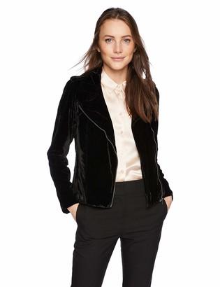 BB Dakota Women's Rose You Stay Velvet Jacket