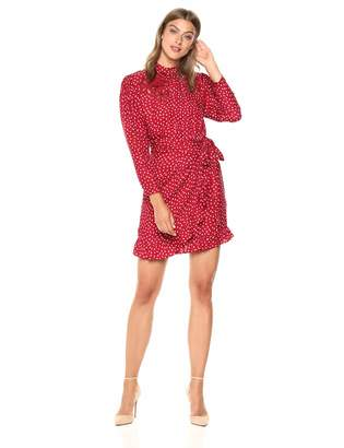 Rebecca Taylor Women's Long Sleeve 3D Floral Heart Dress