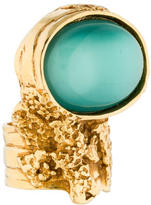 Saint Laurent Arty Ovale Glass Ring