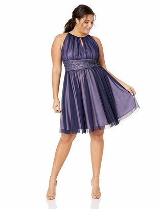 Jessica Howard JessicaHoward Size Womens Keyhole Sleeveless Dress