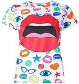 Yazbukey mouth print T-shirt