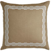 "Sferra Embroidered Linen Pillow, 17"" x 30"""
