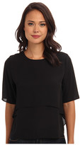 T-Bags LosAngeles Tbags Los Angeles S/S Woven Layered Blouse