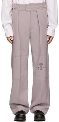 Raf Simons Purple Wool Wide Fit Trousers