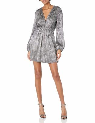 ASTR the Label Women's Supernova Longsleeve Pleated Short Dress