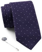 Ben Sherman Dot Tie & Lapel Pin Box Set