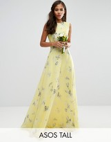 ASOS Tall ASOS TALL Wedding Maxi Dress in Sunshine Floral Print